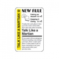 Talk like a Martian Promo card